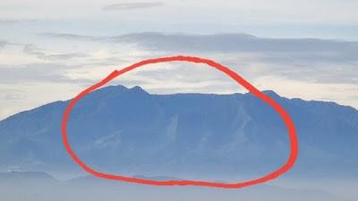 Warganet Heboh, Ada Lafaz Allah Di Foto Gunung