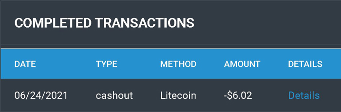 PTCShare payment proof