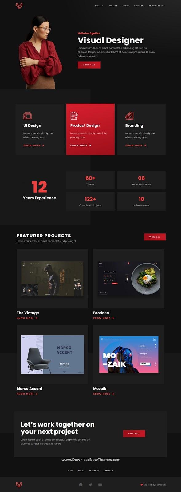 Creative Portfolio Template Kit