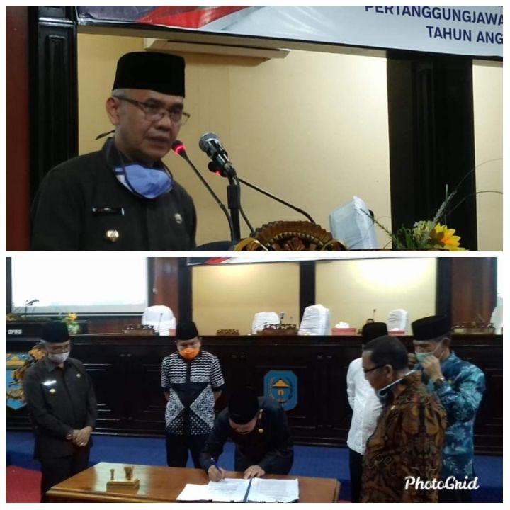 Bupati Kerinci Adirozal Hadiri Paripurna Persetujuan Dewan Terhadap LKPJ Bupati Tahun 2019