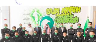 FIFA- President- Gianni- Infantino- discussions- Saudi- Arabia's- football- sports -leaders