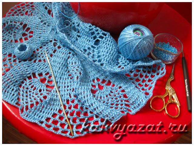 Вязание ажурной салфетки: материалы и инструменты