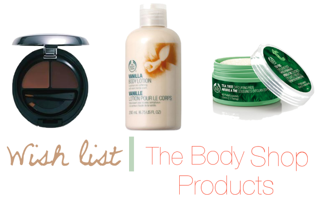 Wish list   The Body Shop