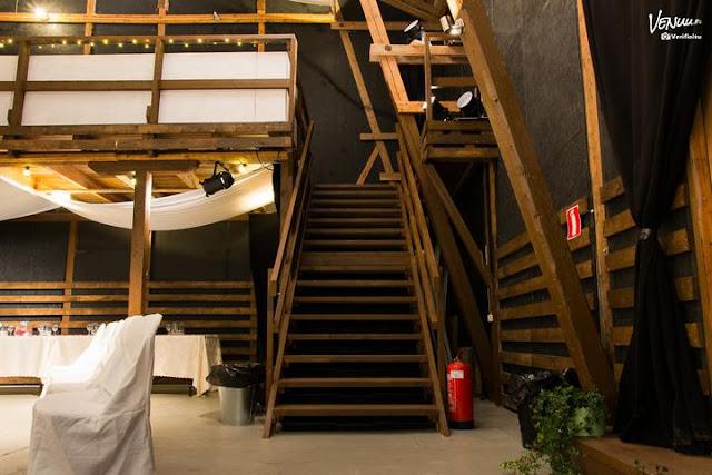 Espoon talli häät portaat koristelu