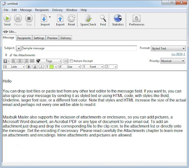 Screenshot MaxBulk Mailer Pro 8.7.1 Full Version