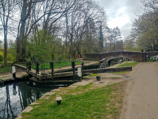 The bridge over the Grand Union Canal