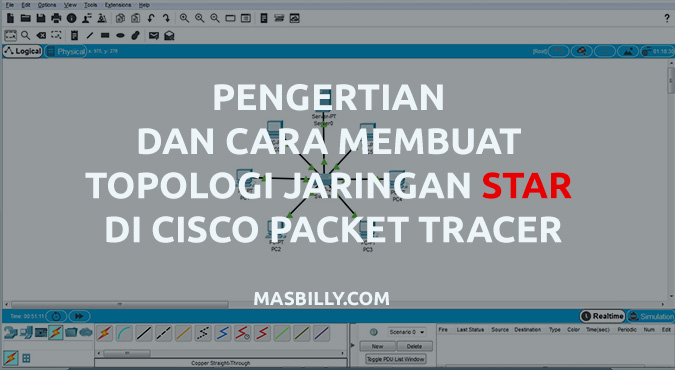 Pengertian dan Cara Membuat Topologi Star di Cisco Packet Tracer