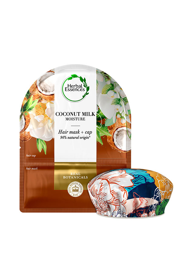 Coconut Milk Moisture Hair Mask + Cap de Herbal Essences