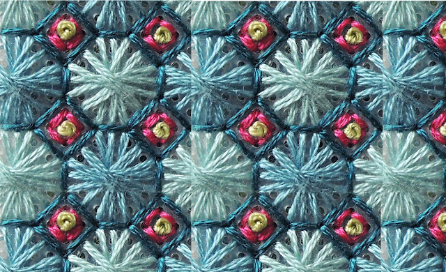 French knot stitch experiment by Bobbin and Fred