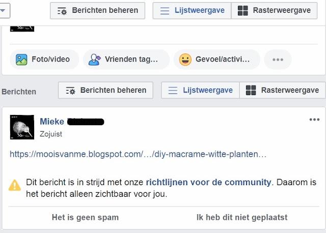 Blogprobleem met facebook en instagram: hulp gezocht
