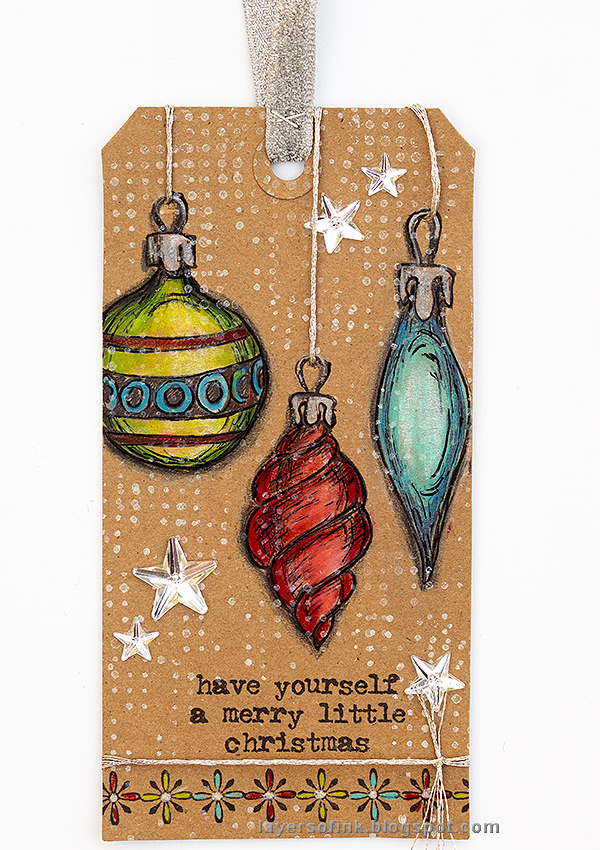 Layers of ink - Krafty Christmas Tag Christmas in July Blog Hop by Anna-Karin Evaldsson