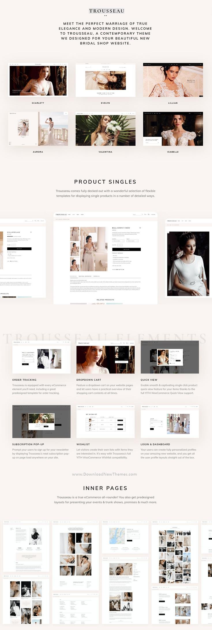 Bridal Shop Responsive Website Theme