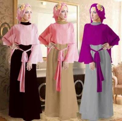 Contoh model gamis muslim terbaru gemuk dan kurus bisa Baju gamis model india 2015