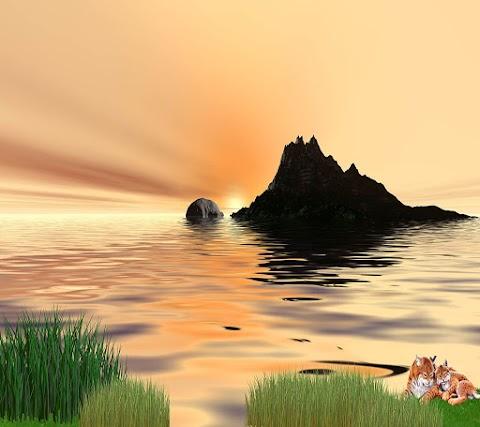 Ảnh Nền Đẹp Cho Điện Thoại Hòn Đảo Nhỏ Trên Biển