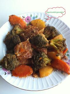 Etli patatesli havuclu brokoli yemegi