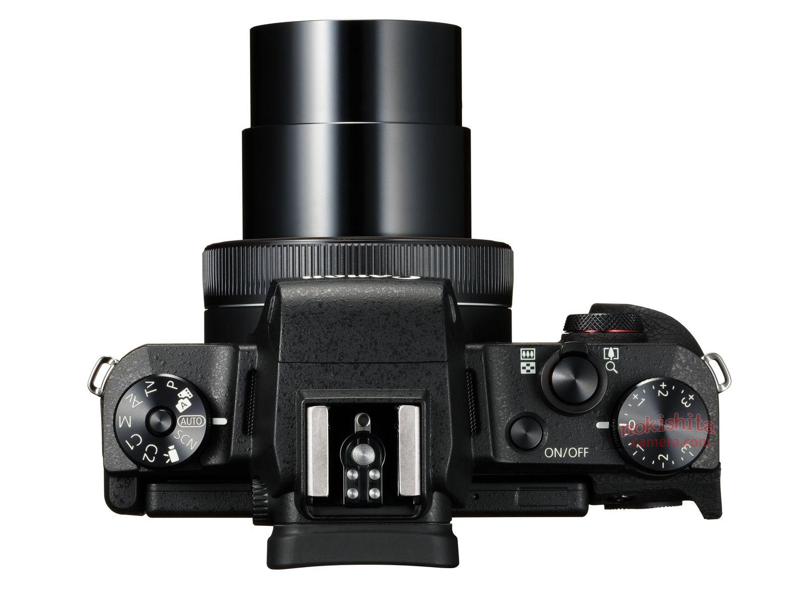 Canon PowerShot G1 X Mark III, вид сверху