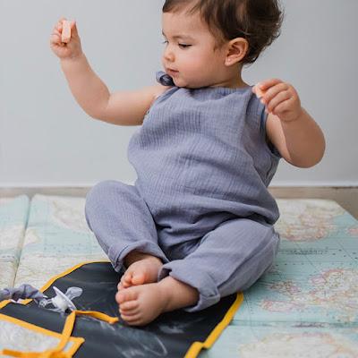 colchoneta suelo juego mapamundi pizarra viajera bebé jugar niños nuevas tecnologías
