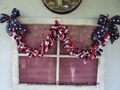Eclectic Red Barn: 4th of July Garland