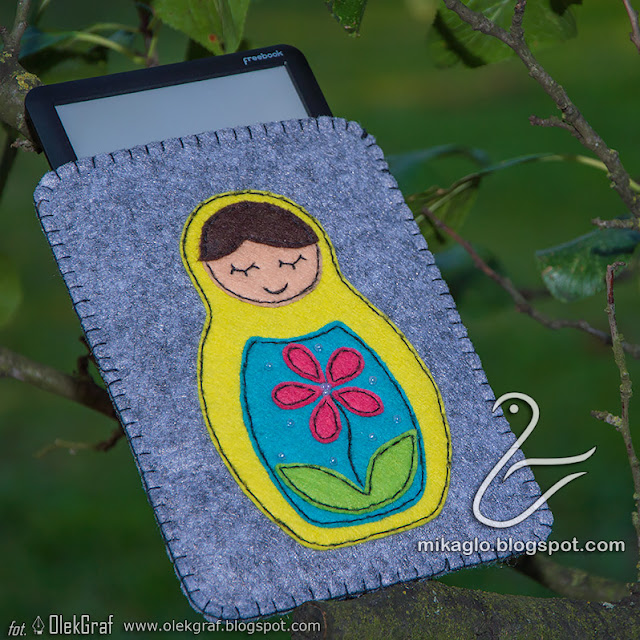 436. Matrioszka z filcu / felt ebook cover with matrioshka