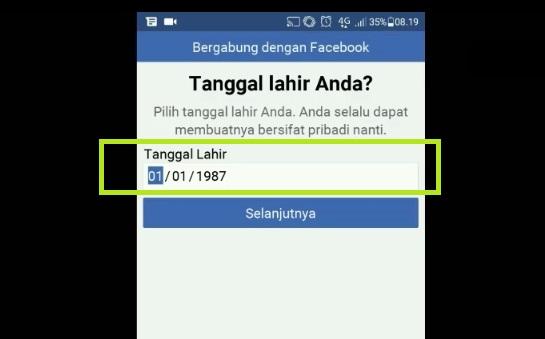 Input no telp Anda untuk daftar facebook 2