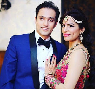 Foto Shikha Singh dengan Suaminya Karan Shah
