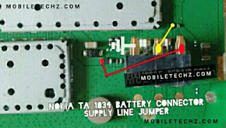 Nokia-Ta1034-Battery-Connector-Track-Ways-Jumper-Solution