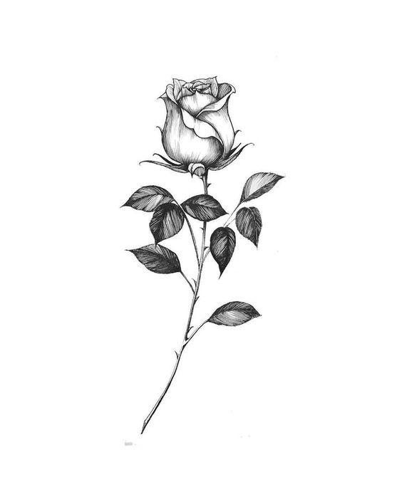 gambar tato bunga simpel