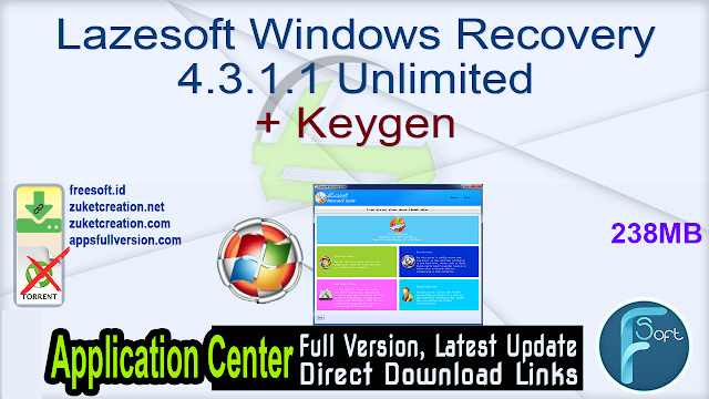 Lazesoft Windows Recovery 4.3.1.1 Unlimited + Keygen