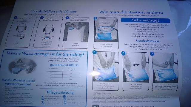 Anleitung zum Füllen des Wasser Kissen