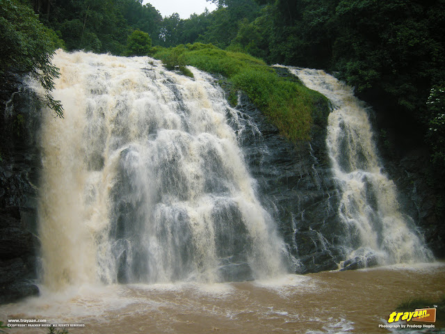 Abbi falls near Madikeri at Coorg, Kodagu district, Karnataka