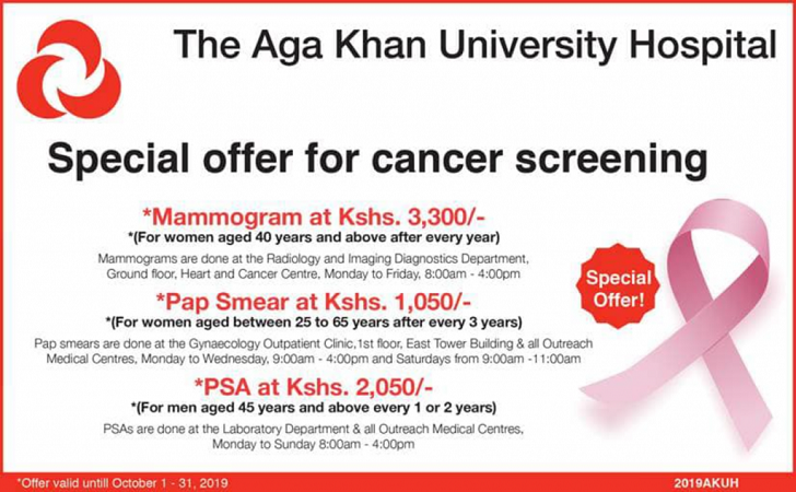 List of Cancer Screening Centres in Kenya