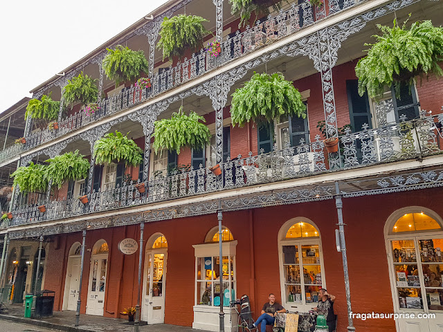 Casarão no Bairro Francês de Nova Orleans