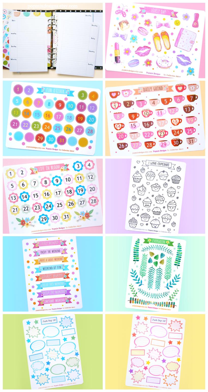 Popmix Planner Stickers