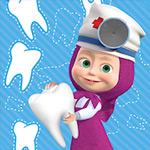 لعبة طبيب الاسنان ماشا والدب