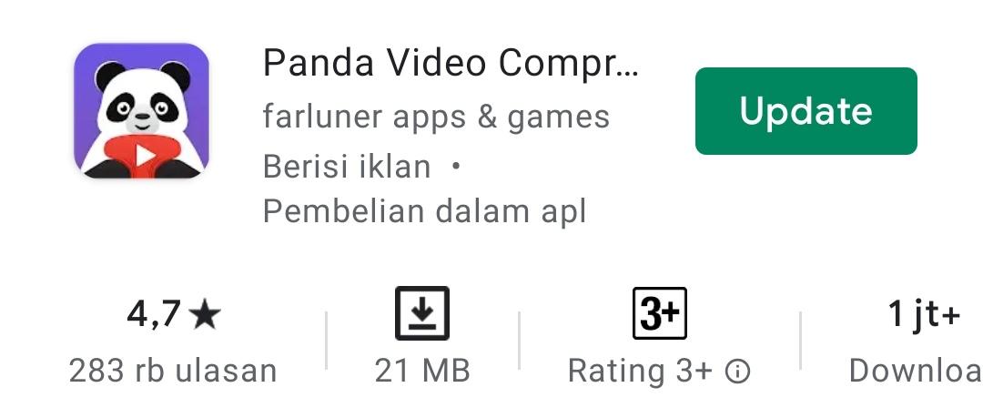 Aplikasi smartphone kompres video