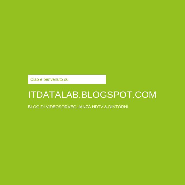 Benvenuto nel blog Data Lab