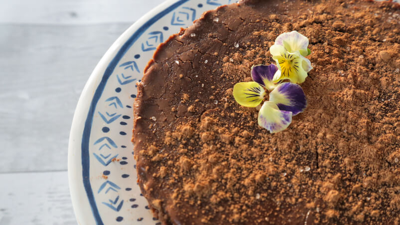 Vegan flourless chocolate torte recipe