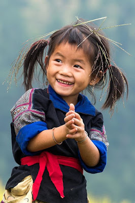 Smile of the children highland in Viet Nam