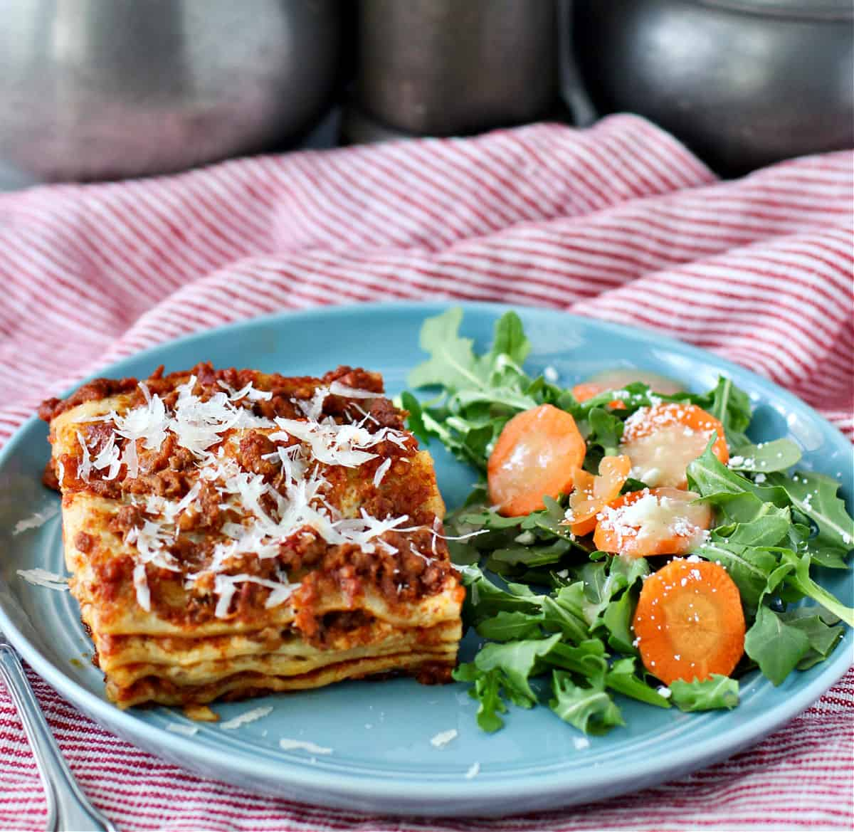 Lasagna Bolognese on a plate