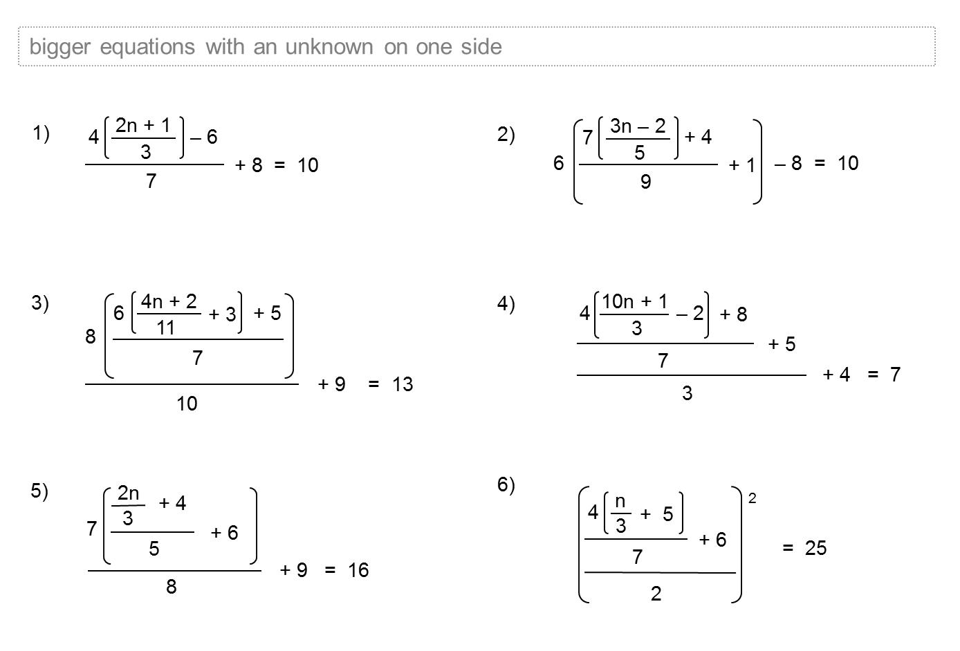 Median Don Steward Mathematics Teaching Linear Equations Sheets
