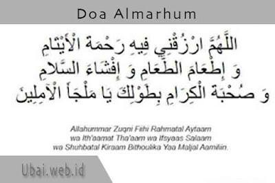 doa almarhum