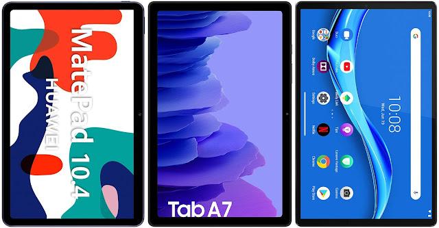 Huawei MatePad 10.4 vs Samsung Galaxy Tab A7 10.4 (2020) vs Lenovo Smart Tab M10 FHD Plus