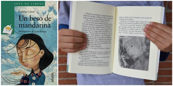 libro infantil y juvenil: un beso de mandarina, eulalia canals