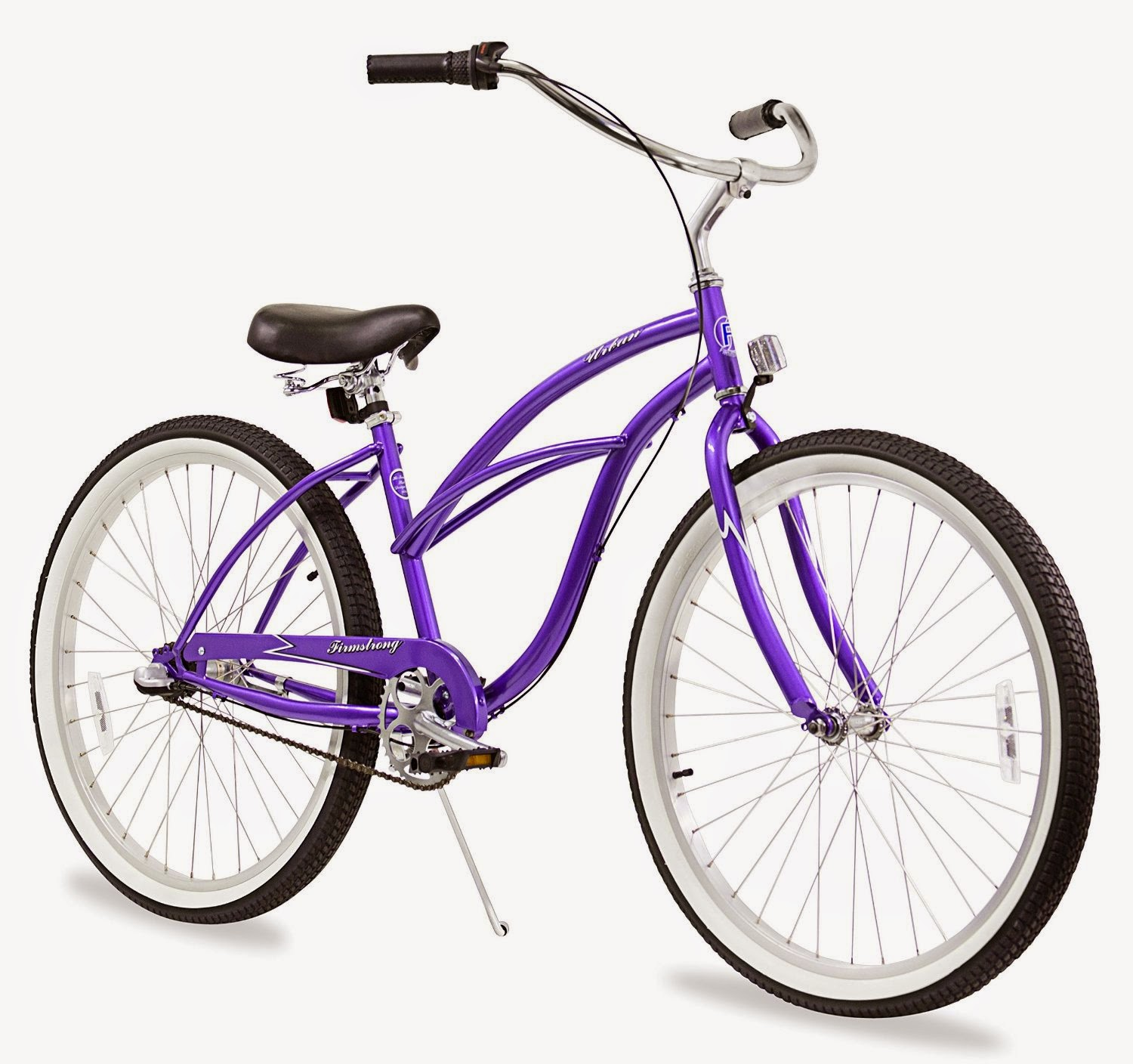 "Firmstrong Urban Lady 3-Speed Women's 26"" Beach Cruiser Bike, purple color, picture, image, review features & specifications, compare with single-speed & 7-speeds"