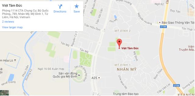 Bản đồ đại điểm đến văn phòng Việt Tâm Đức