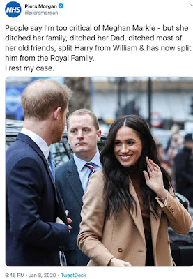 Duchess of Sussex gets good news on Mother's Day 2020 - Piers Morgan admits to taking things a 'bit too far'  in his media vendetta against her