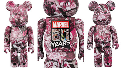 Marvel Comics 80th Anniversary 400% & 100% Be@rbrick Vinyl Figure Box Set by Medicom Toy
