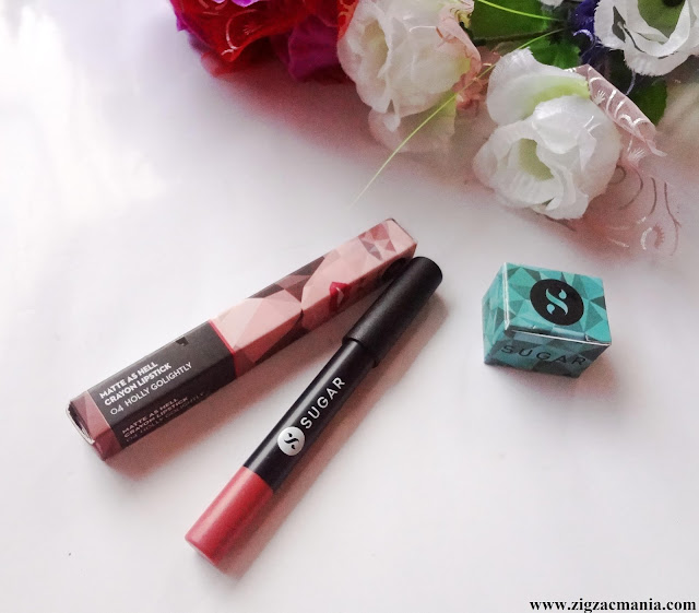 Sugar Cosmetics Matte As Hell (Holly Golightly) Crayon Lipstick | Review & Swatch