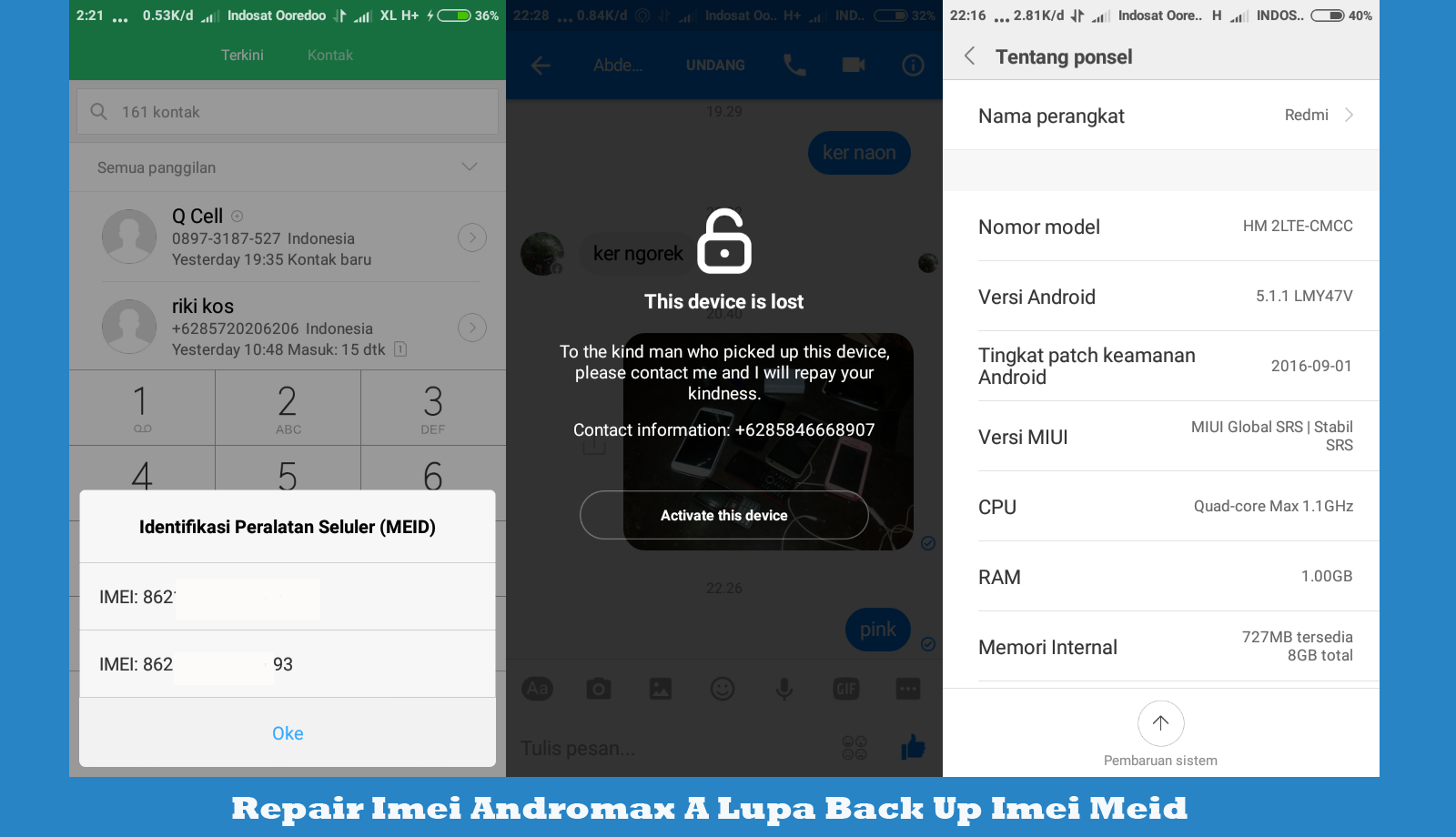 Cara Fix Imei Andromax A Yang Lupa di Back Up Work 100%