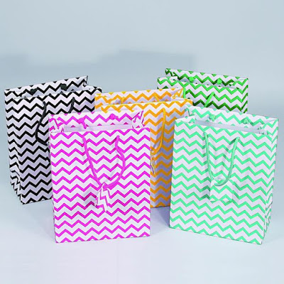Nile Corp Wholesale #BX4715-MX Mixed Chevron Pattern Tote Bags